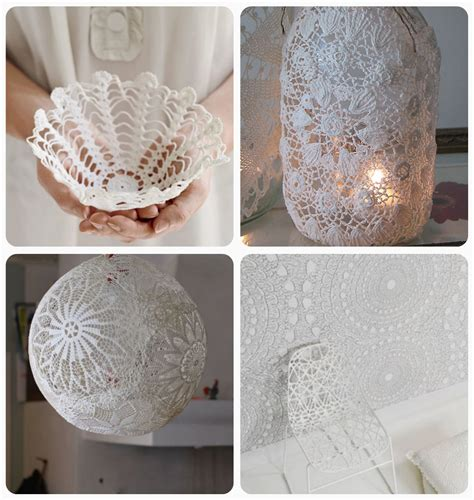 doily paper craft doily crafts diy roundup shannon