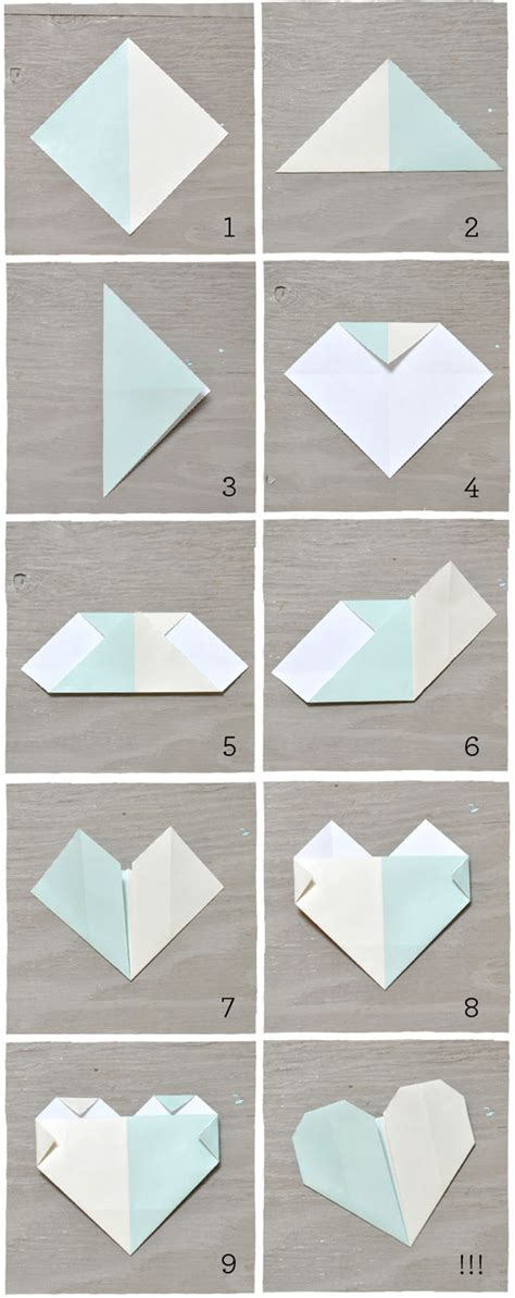 origami hearts easy diy origami cards green wedding shoes