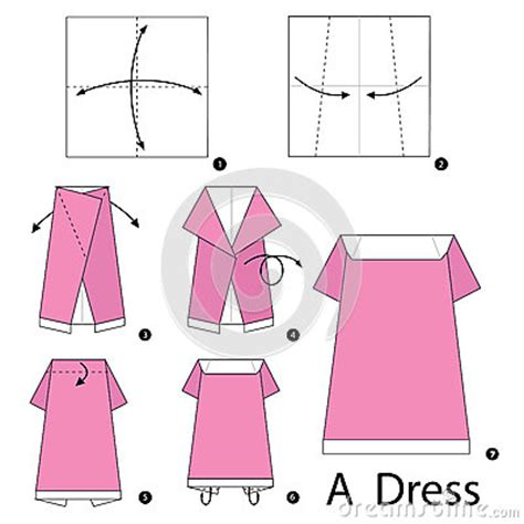 how to make an origami dress step by step how to make origami a dress