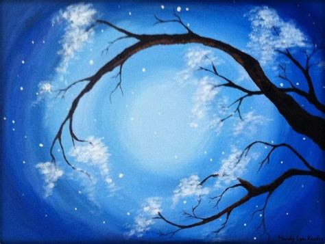 easy acrylic painting ideas trees 12 quot x16 quot original acrylic tree painting on canvas panel