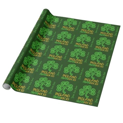 paper craft supplies ireland shamrock custom wrapping paper zazzle