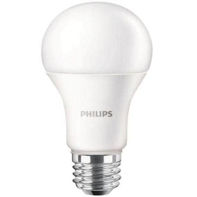 home depot led light bulb philips 100w equivalent daylight a19 led light bulb 460790