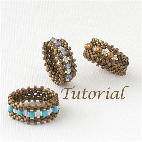 bead ring beaded ring tutorial i m with the band by jewelrytales on etsy