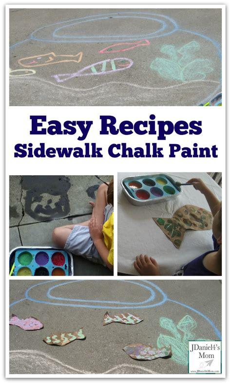 chalk paint easy easy recipes sidewalk chalk paint