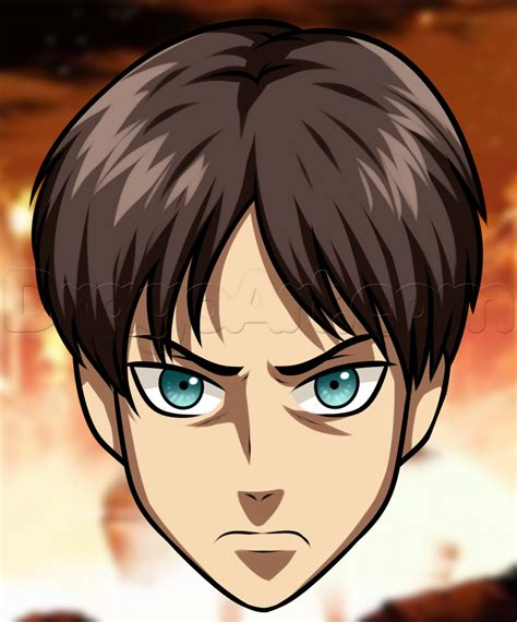 easy drawings how to draw eren easy step by step anime characters