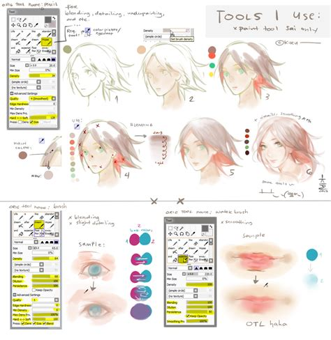 paint tool sai mouse user tutorial sai tools i use settings a bit tutorial by keerou on