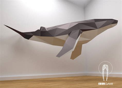 create your own 3d model low poly whale model create your own 3d papercraft whale
