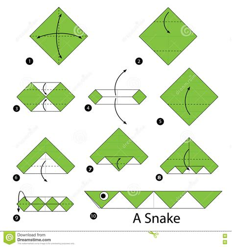 how to make an origami snake set of abstract geometric animal with a thin outline
