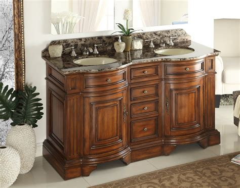 60 inch bathroom vanities sink adelina 60 inch sink bathroom vanity chestnut finish