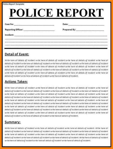 7 car accident police report sample introduction letter