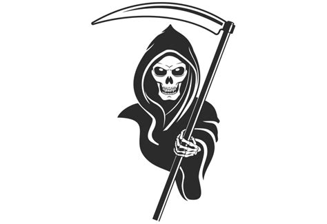 Cowboy Bedroom Decor grim reaper wall decal