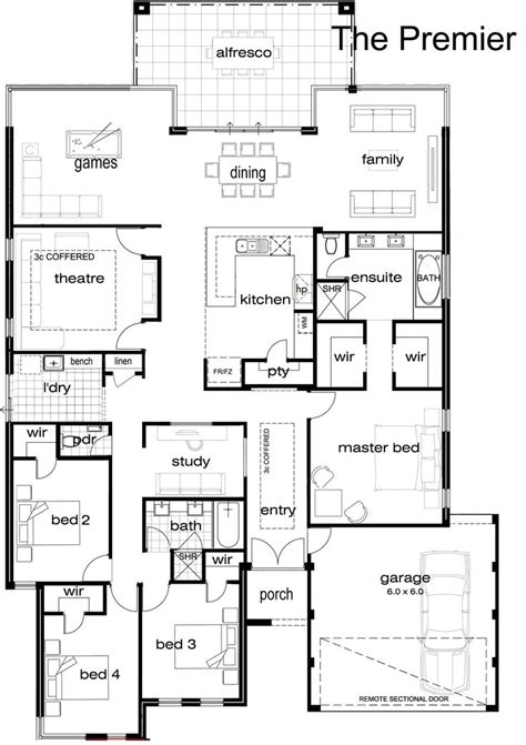 single story house plan best 25 single storey house plans ideas on 2