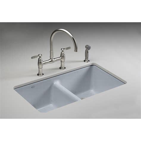 kitchen sink undermount shop kohler anthem basin undermount enameled cast