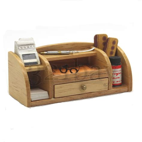 office supplies for desk miniature desk 1 12 wooden office supplies office set pen
