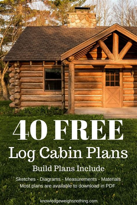 build floor plans for free log home plans 40 totally free diy log cabin floor plans