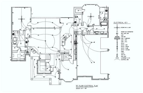floor plan with electrical symbols 1st floor electrical plan elec eng world