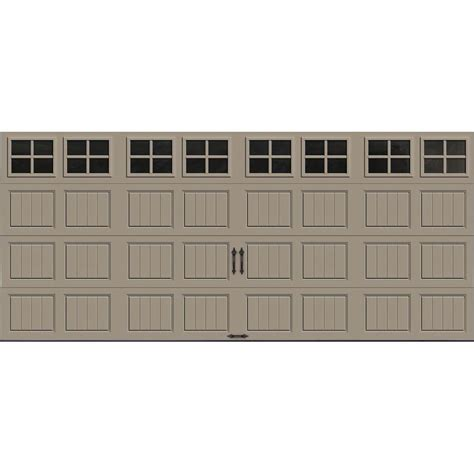 garage door panels home depot clopay gallery collection 16 ft x 7 ft 6 5 r value