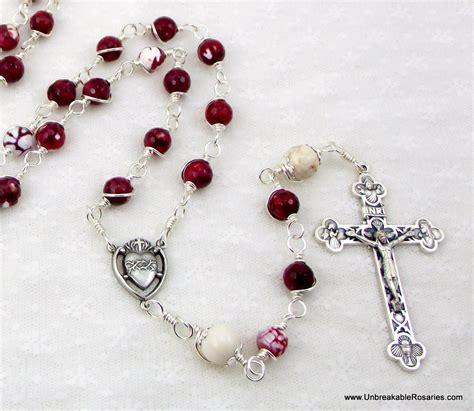 sacred rosary unbreakable rosaries sacred of jesus unbreakable