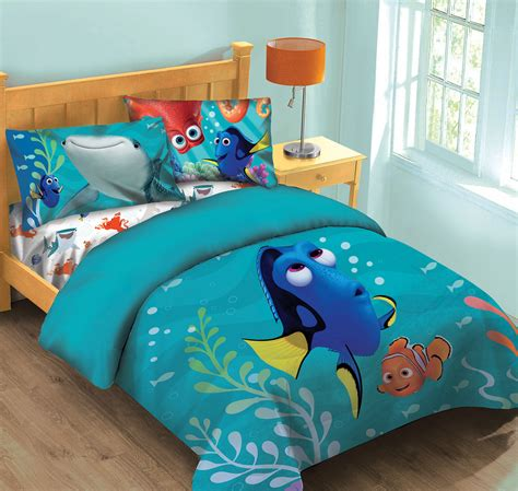 disney bed sheets disney finding dory fish finder comforter set w fitted sheet