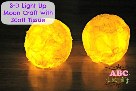moon craft for 3 d light up moon craft with tissue scottvalue