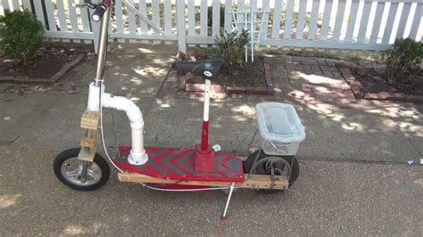 home made motor scooter with suspension