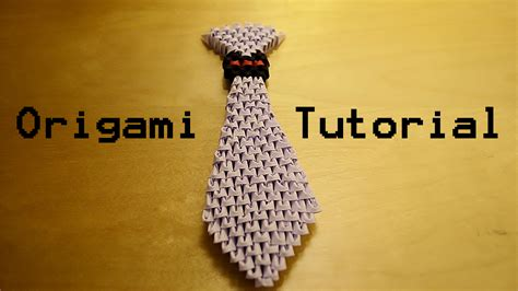 3d origami tutorial how to make a 3d origami tie tutorial by ideando