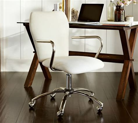 desks and chairs for airgo swivel desk chair pottery barn