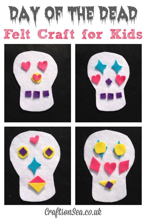 day of the dead crafts for day of the dead felt craft for crafts activities