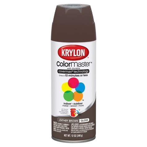 Krylon Colormaster Leather Brown Spray Paint Other Home