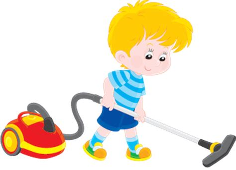 clipart vacuum boy with a vacuum cleaner clipart the arts image