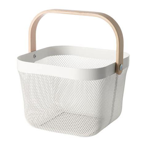 ikea baskets risatorp basket white 25x26x18 cm ikea