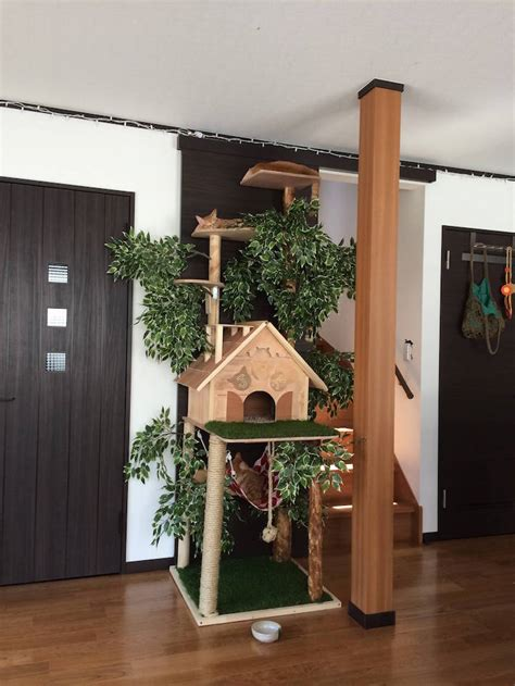 modern scratching post diy cat tree offers alternative to conventional scratching