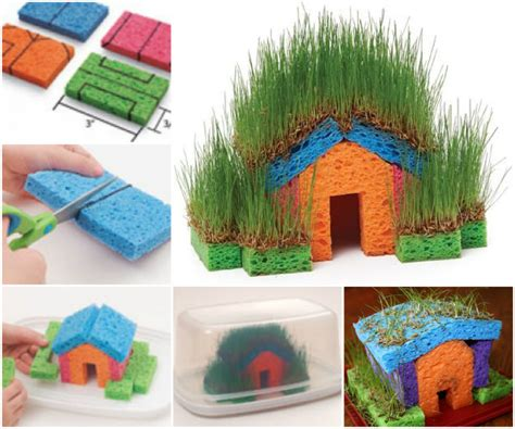house crafts for educational diy mini grass houses for