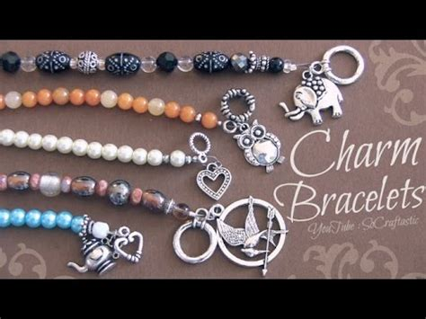 how to make custom jewelry at home diy beaded charm bracelet with wire crimp clasps
