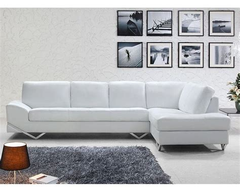 modern white leather sofa modern white or latte leather sectional sofa set 44l6064