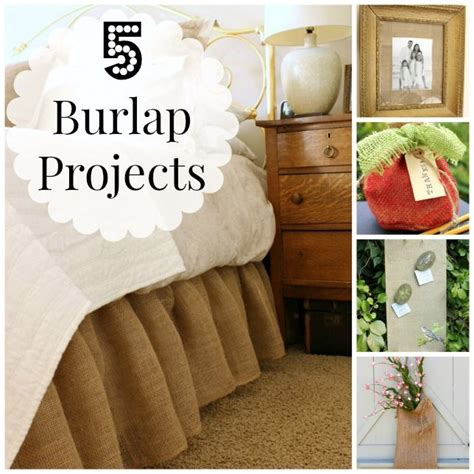 burlap crafts projects 5 simple burlap projects crafts and more