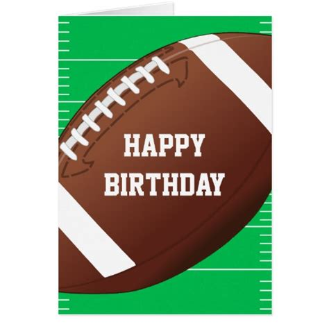 football birthday cards to make football sports fan birthday greeting card zazzle