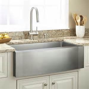 stainless farmhouse kitchen sinks 33 quot optimum stainless steel farmhouse sink wave apron