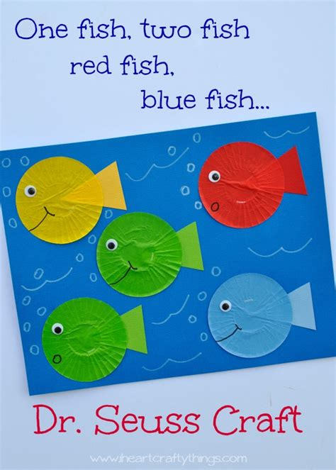 dr seuss crafts for i crafty things one fish two fish fish blue