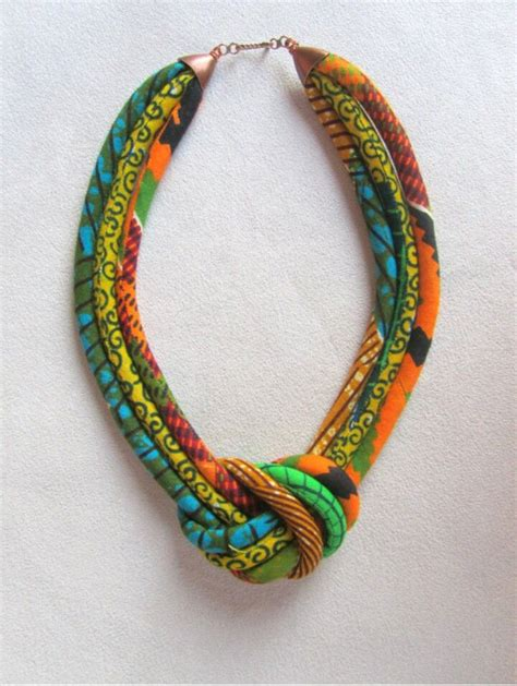 material for jewelry fabric necklace kitenge designs