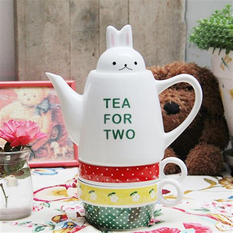 tea for two small rabbit cover tea for two ceramic teapot