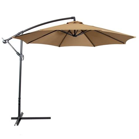 patio offset umbrella deluxe 10 offset patio umbrella set outdoor