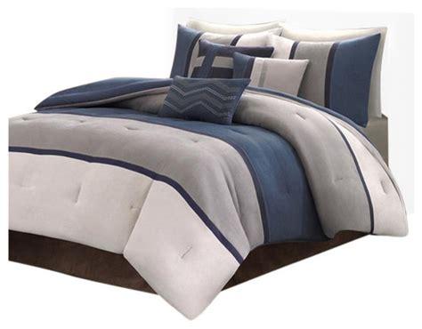 solid comforter set microsuede solid pieced 7 comforter set comforters