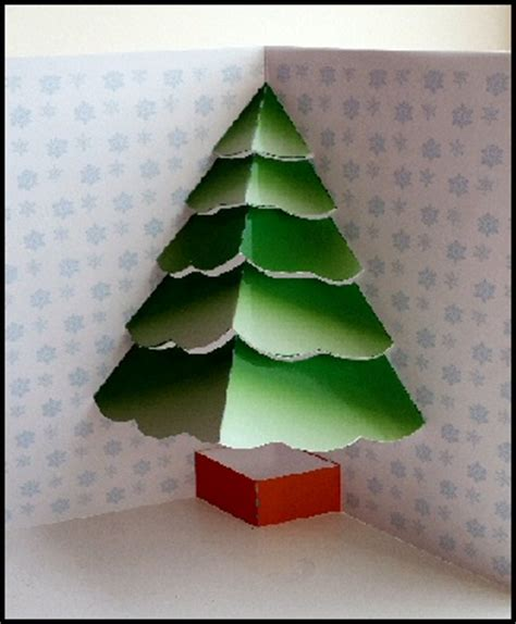 how to make a 3d tree card tree card project free craft downloads