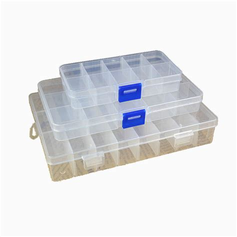 10 15 24 Compartments Storage Container Plastic