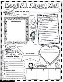 instant personal poster sets read all about me 30 big write and read learning posters ready for to personalize and display with pride scholastic read all about me instant personal poster sets