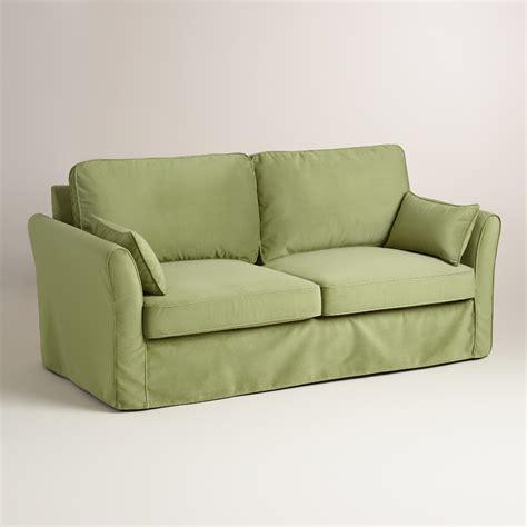 green sofa slipcover oregano green velvet fit luxe sofa slipcover world