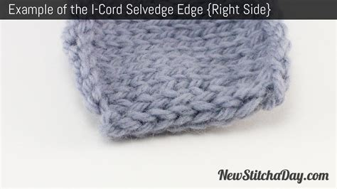 knitting i cord edging how to knit the i cord edge stitch new stitch a day