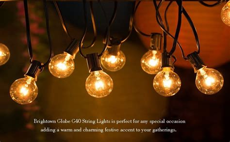 clear outdoor string lights 50ft g40 globe string lights with clear bulbs