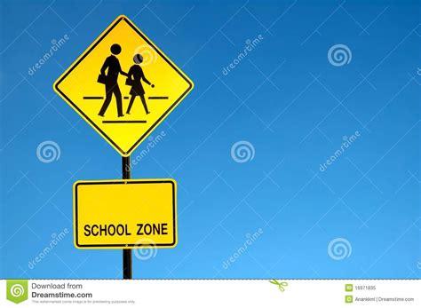 school zone school zone sign royalty free stock photo image 16971835